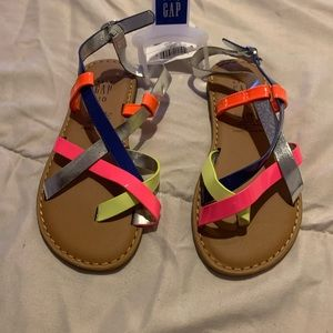 Little girls multi-colored sandals